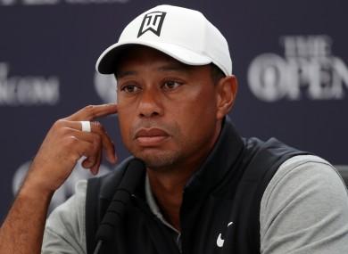 Tiger Woods (file pic).