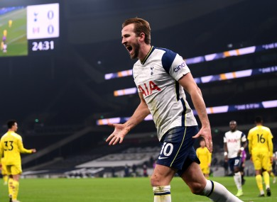 The Spurs striker has 19 goals and 13 assists in the Premier League this season.