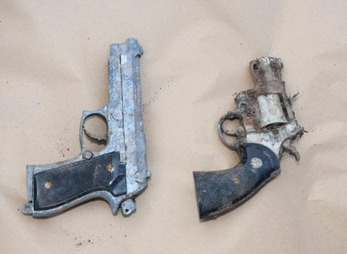 The suspected firearms seized in Co Cork