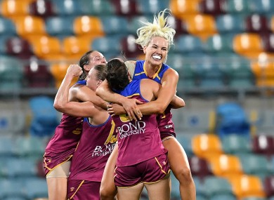 Tipperary's Orla O'Dwyer with her Brisbane Lions team-mates.
