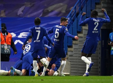 Mason Mount leads the celebrations as Chelsea book their place in the Champions League final.