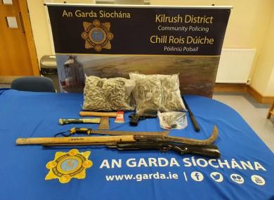 Items seized by gardaí today