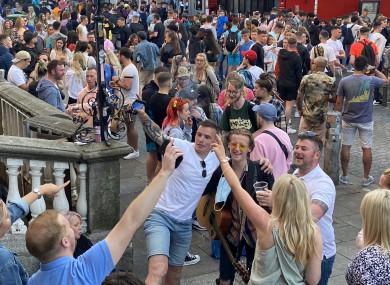 Crowds on South William Street last weekend