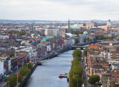 File image of Dublin city centre.