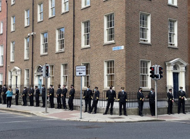 Pilots lined the streets outside Leinster House today calling on the government to align its approach to travel with other EU countries, calling Ireland an 'aviation outlier'.