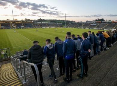 Fans watch last year's Cavan SFC final.