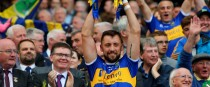 Tipperary's James Barry lifts the Liam MacCarthy Cup in 2019.