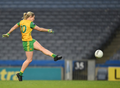 Karen Guthrie scored six points for Donegal.