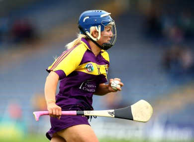 Katrina Parrock in action for Wexford in 2016.