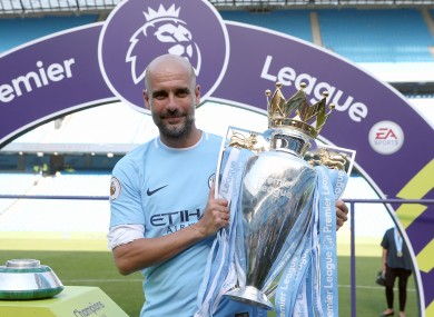 City are champions of England once more (file pic).