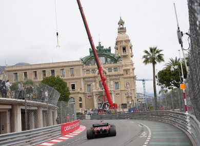 Charles Leclerc in action at the Monaco Grand Prix.