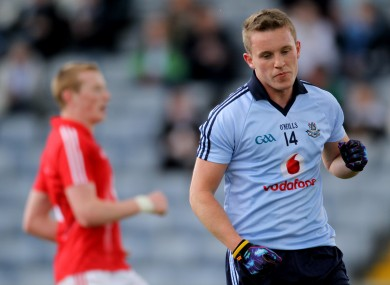 Philip Ryan in action for the Dublin U21s in 2012.