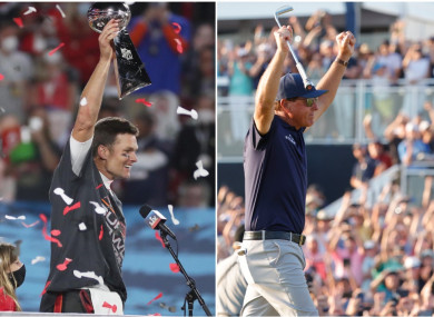 It's already been a successful year for Tom Brady and Phil Mickelson.