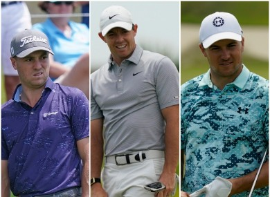 Thomas, McIlroy and Spieth are all some of the leading players.