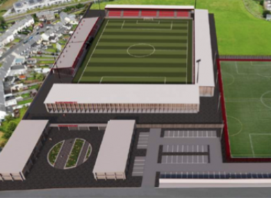 Plans for the redeveloped Showgrounds have been prepared by Rhatigan Architects.