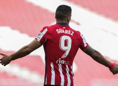 Luis Suarez in action against
