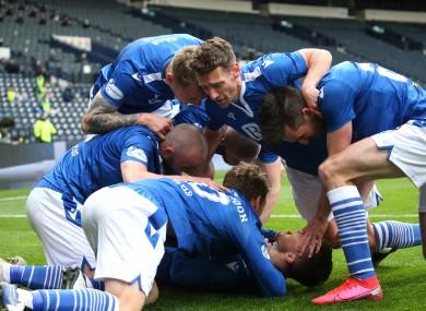 St Johnstone players celebrate
