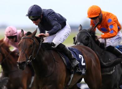 Empress Josephine ridden by Seamie Heffernan goes on to win The Tattersalls Irish 1,000 Guineas.
