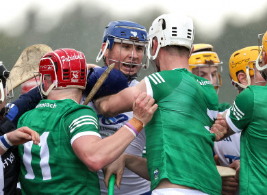 Limerick saw two players sent-off against Waterford.