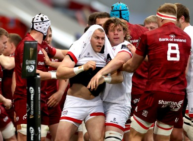 Tempers flare at Thomond Park.