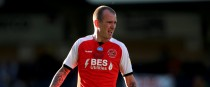 Glenn Whelan in action for Fleetwood Town.