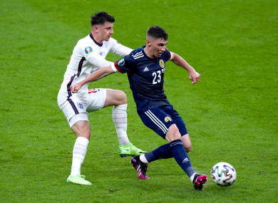 File photo dated 18-06-2021 of England's Mason Mount (left) and Scotland's Billy Gilmour.