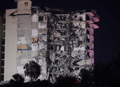 A partial building collapse in Miami caused a massive response early this morning, local time