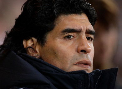 Diego Maradona [file photo].