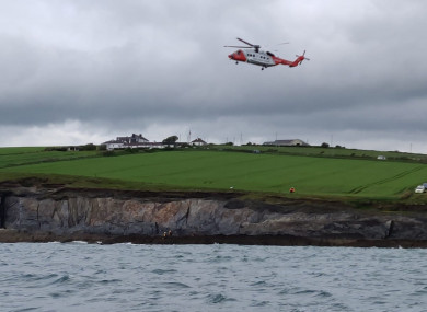 Coast Guard helicopter R115 transported the patient to hospital following his rescue.