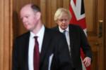 Chris Whitty and Boris Johnson.