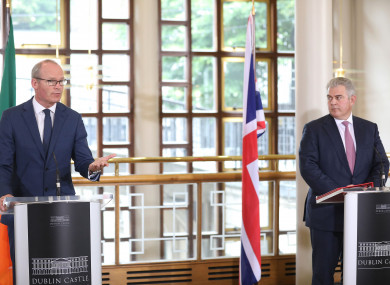 Minister for Foreign Affairs Simon Coveney and Northern Ireland Secretary of State Brandon Lewis