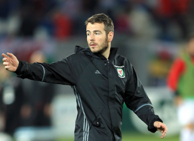 File photo of Ronan Kavanagh, with Wales during a 2018 World Cup qualifier with Georgia.