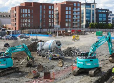 A construction site in Dublin city