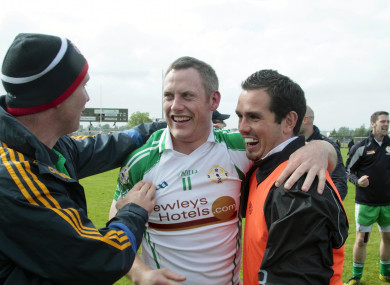 Lorcan Mulvey is congratulated after London reached the Connacht final in 2013.