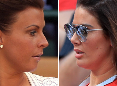 Rebekah Vardy (right) and Coleen Rooney (left).