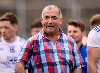 A happy Monaghan manager Seamus McEnaney after the game.