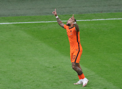 Memphis Depay of the Netherlands (file pic).