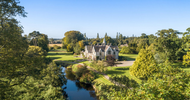 Magnificent country mansion with endless gardens and your own piece of the River Liffey