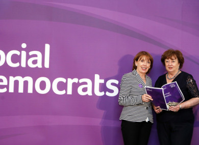 Social Democrats TDs and co-leaders Roisin Shortall and Catherine Murphy.