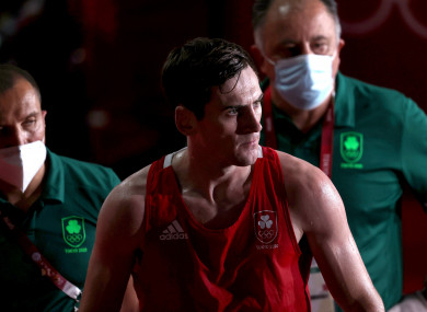 Aidan Walsh picked up an ankle injury after his quarter-final win.