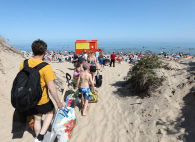 Crowds at Brittas Bay Beach in Wicklow last weekend.