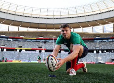 Dan Biggar at Cape Town Stadium yesterday.