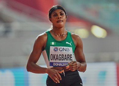 Blessing Okagbare won her opening 100m heat on Friday (file photo).