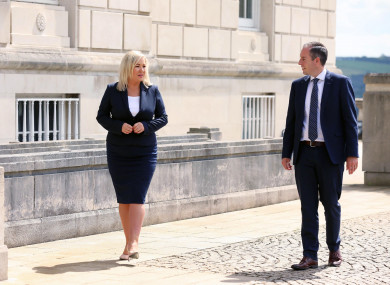 First Minister Paul Givan and deputy First Minister Michelle O'Neill will co-chair today's virtual executive meeting