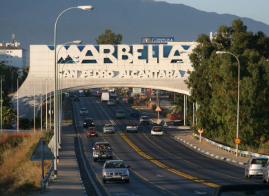 A view of a sign at the entrance to Marbella. File photo. (Martin Keene/PA)