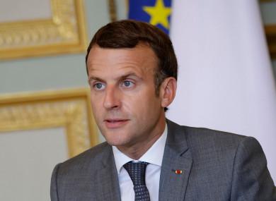 File image of French president Emmanuel Macron.