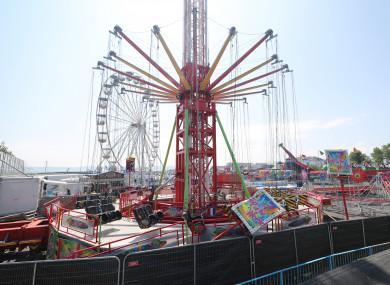 The Star Flyer funfair ride at Planet Fun in Carrickfergus, Co Antrim