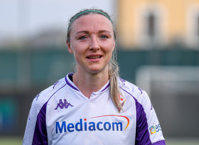 Louise Quinn in action for Fiorentina.