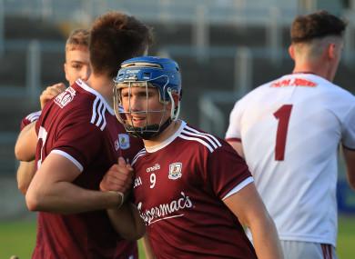 Galway's Jason Donoghue celebrates winning.