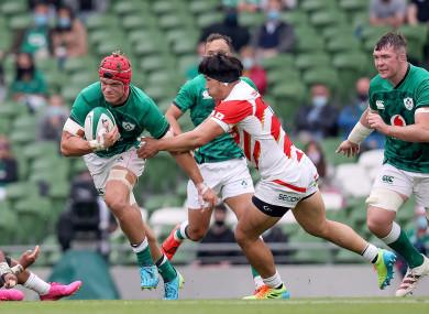 Josh van der Flier was superb for Ireland yesterday.